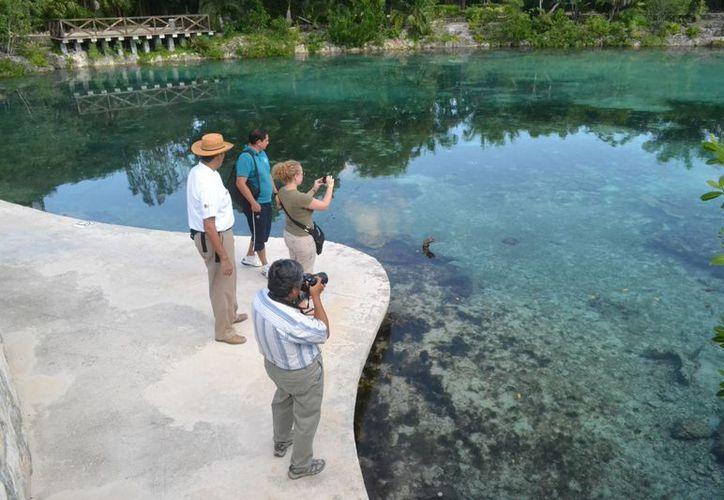 El recorrido se realizó en Chankanaab, Punta Sur y la zona arqueológica maya San Gervasio en Cozumel. (Gustavo Villegas/SIPSE)