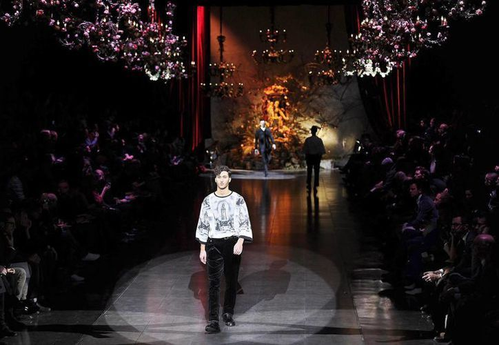 Pasarela de la colección para hombres de Dolce and Gabbana en la Milan Fashion Week, en Milan, Italia. (EFE/Archivo)