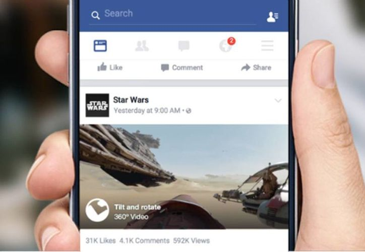 Facebook soportará videos en 360°. (Facebook)