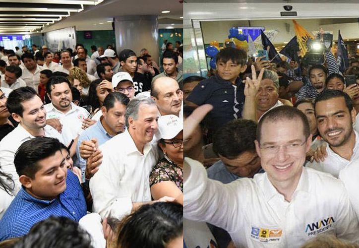 José Antonio Meade y Ricardo Anaya llegarón este fin de semana a la capital yucateca. (Especial)