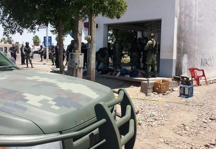 Una balacera terminó con una persona que perdió la vida tras sostener accidentalmente una granada en las manos, en Culiacán. (Sin Embargo)