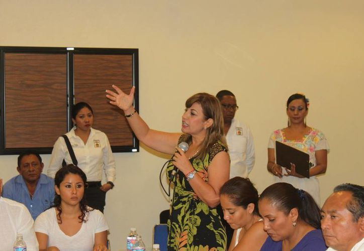 La legisladora, Susana Hurtado Vallejo, dijo que aún no obtiene los resultados deseados con el fomento a la denuncia. (Carlos Calzado/SIPSE)