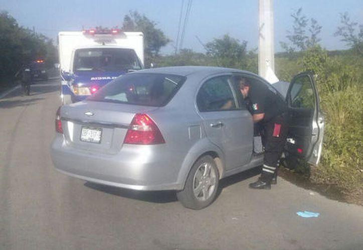Los hechos ocurrieron ayer, alrededor de las 18:00 horas, en la carretera Yobaín-Dzidzantún. (Milenio Novedades)
