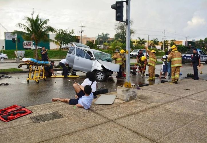 El saldo del operativo de seguridad Guadalupe Reyes en Playa del Carmen fue de 83 accidentes de tránsito. (Octavio Martínez/SIPSE)