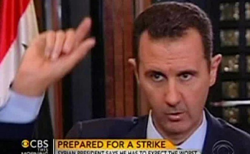 """Bashar insiste en que sus soldados estaban """"en otra área"""" en el momento del ataque con armas químicas. (Agencias)"""