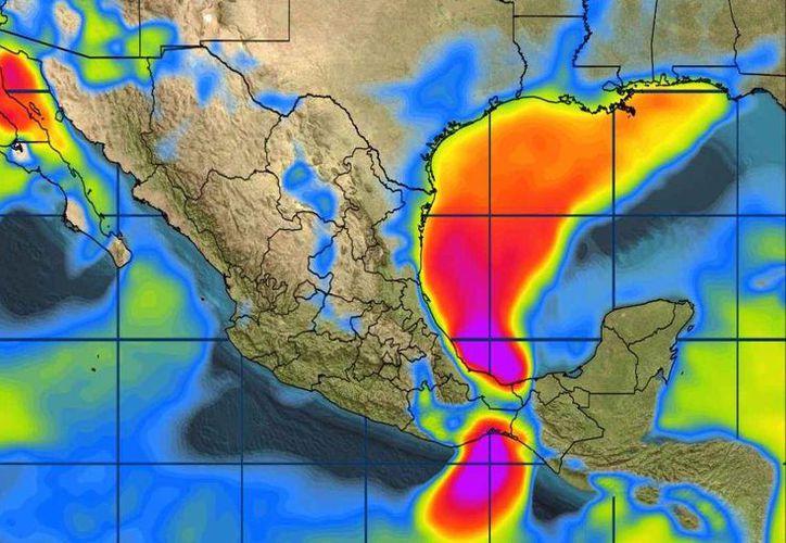 En la Península de Yucatán se estima cielo medio nublado. (Conagua)