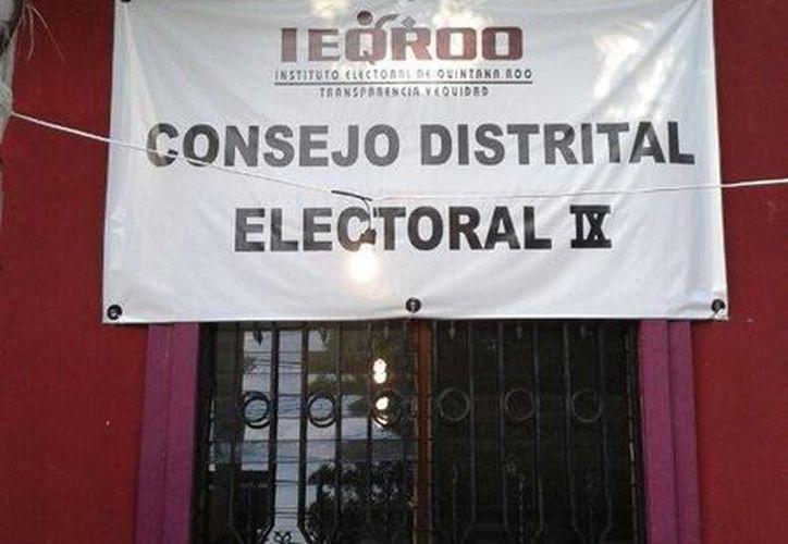 Las instalaciones del Consejo Distrital IX. (Licety Díaz/SIPSE)