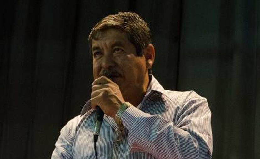 Rubén Nuñez, secretario de la sección 22 de la CNTE en Oaxaca. (Milenio)