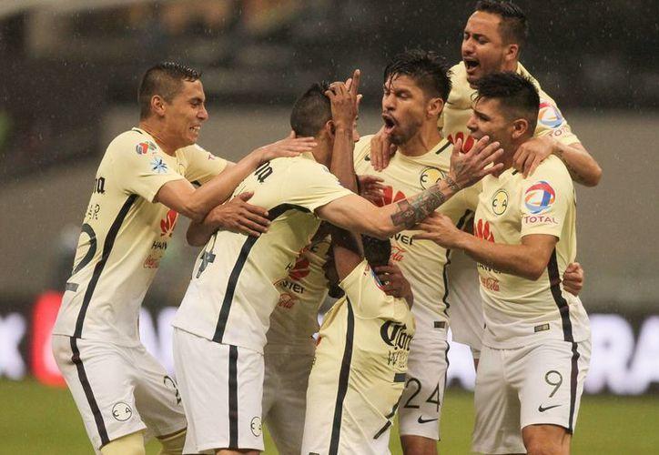 América viene de derrotar 2-1 a Pumas, en duelo correspondiente a la jornada 11 de la Liga MX.(Notimex)