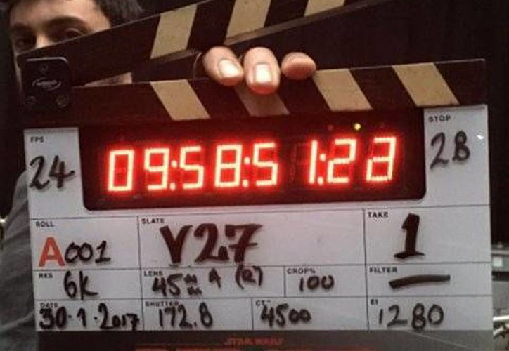 El director Chris Miller compartió en redes sociales el inicio de las grabaciones de la nueva película de 'Star Wars'.(Foto tomada de Instagram/Chris Miller)