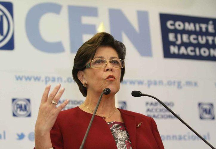 Cecilia Romero, secretaria general del PAN, informó que los estados serán quienes elijan a los consejeros blanquiazules locales. (Archivo/SIPSE)