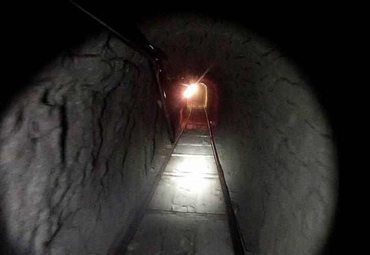 El túnel hallado durante una revisión en un canal de drenaje en Nogales, Sonora, estaba incompleto. (Notimex/Foto de archivo)