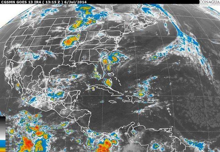 La onda Tropical que se encuentra en el oriente de la Península de Yucatán, se moverá hacía el oeste, lo que ocasionará precipitaciones. (Foto/Internet)