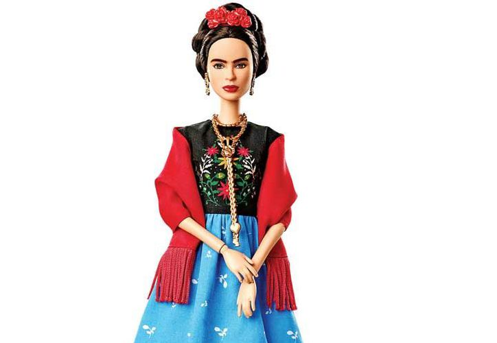 Barbie de Frida Kahlo, distribuida por Mattel. (DPA Y AFP)