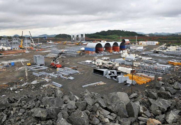 """Las obras de ampliación del Canal de Panamá alcanzaron otro """"hito"""". (EFE)"""
