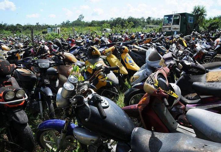 Las motocicletas serán entregadas a sus dueños en caso de poder acreditar su legal procedencia. (Redacción/SIPSE)