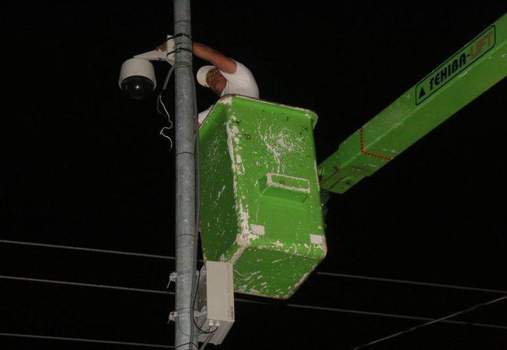 Aunque no se reveló el número de cámaras que opera Seguridad Pública, se sabe que varias no funcionan por falta de mantenimiento. (Irving Canul/SIPSE)