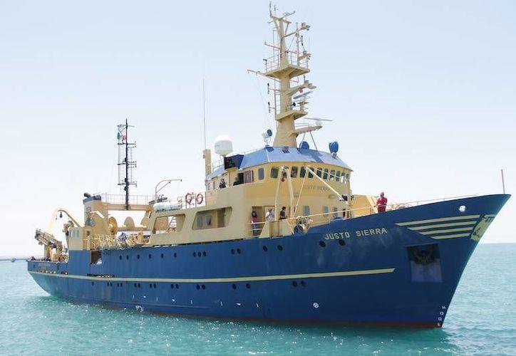 """El buque """"Justo Sierra"""" transporta todo el equipo tecnológico necesario para estudiar todo lo relativo al cráter de Chixchulub. (Cortesía)"""