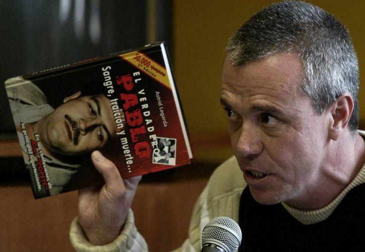 Imagen del 2006 que muestra a John Jairo Velásquez, exsicario del narcotraficante Pablo Escobar, al dar su testimonio durante el juicio contra Alberto Santofimio Botero en Bogotá, Colombia. (Agencias)