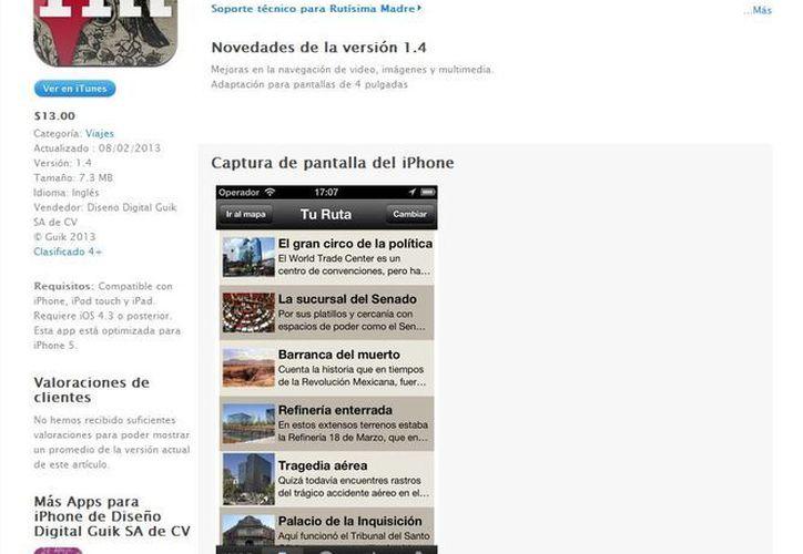 Loret de Mola argumentó que su proyecto nació debido a que prácticamente ya nadie utiliza mapas al viejo estilo. (itunes.apple.com)