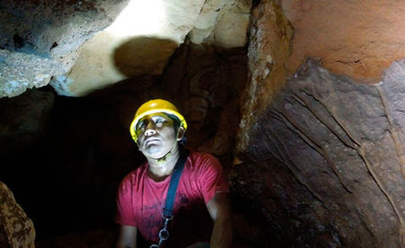 De acuerdo con el Grupo Espeleológico Ajau, en la cueva del aguacate, en Maxcanú, las huellas del saqueo son evidentes. (Ana Hernández/SIPSE)