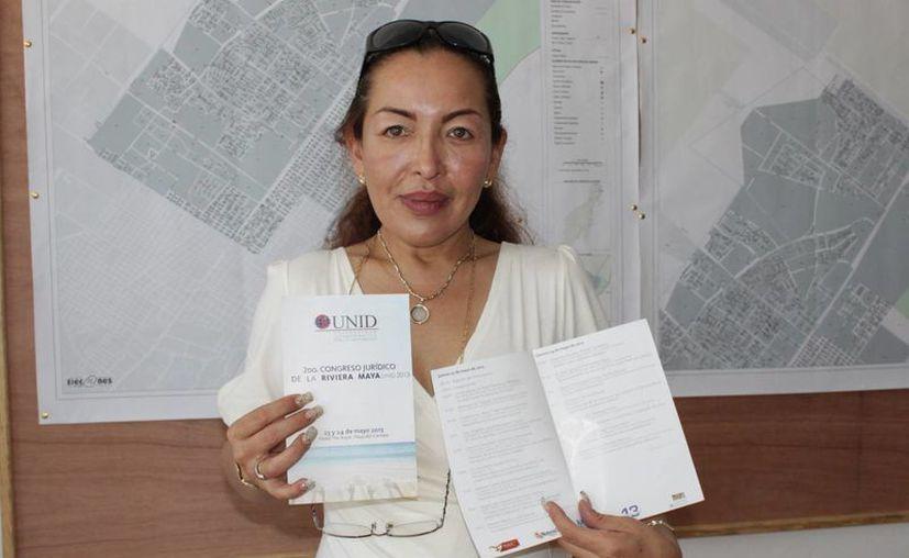La capacitadora de  la Comisión de Derechos Humanos, dijo adelantó que los temas serán las modificaciones a la ley laboral,  la ley de educación, entre otras. (Adrián Barreto/SIPSE)
