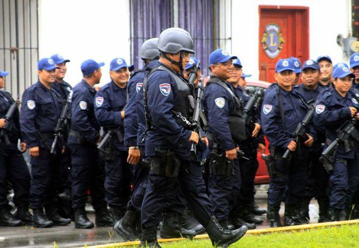 Se espera la contratación de 200 elementos de policía acreditable para operar en los grupos de elite. (Claudia Martín/SIPSE)