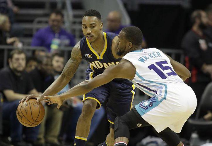 En tan solo el primer cuarto Hornets tenía una ventaja de 21 puntos sobre Pacers. al que al final ganó. (AP)