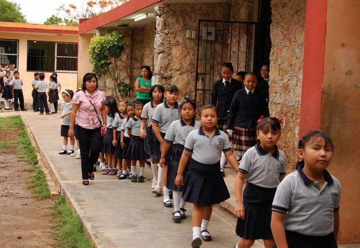 En el auditorio de la Segey se distribuyeron 133 contratos para Cendis y jardínes de Yucatán. (Milenio Novedades)