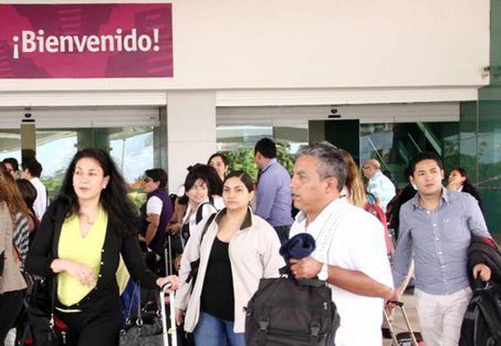 Llegada de los empresarios de EU a Mérida. (Milenio Novedades)