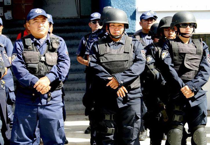 La SESP contabiliza seis mil agentes policíacos en la entidad. (Harold Alcocer/SIPSE)