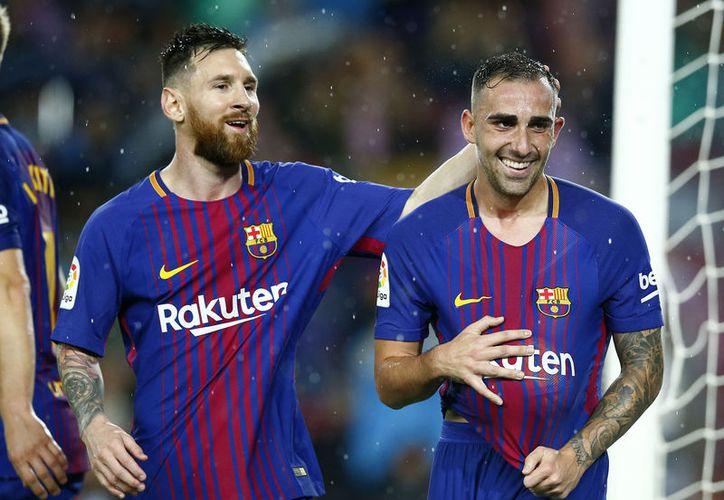 Messi cumple 600 partidos con el Barcelona, Paco Alcácer logró la victoria con un doblete. (Foto: AP)