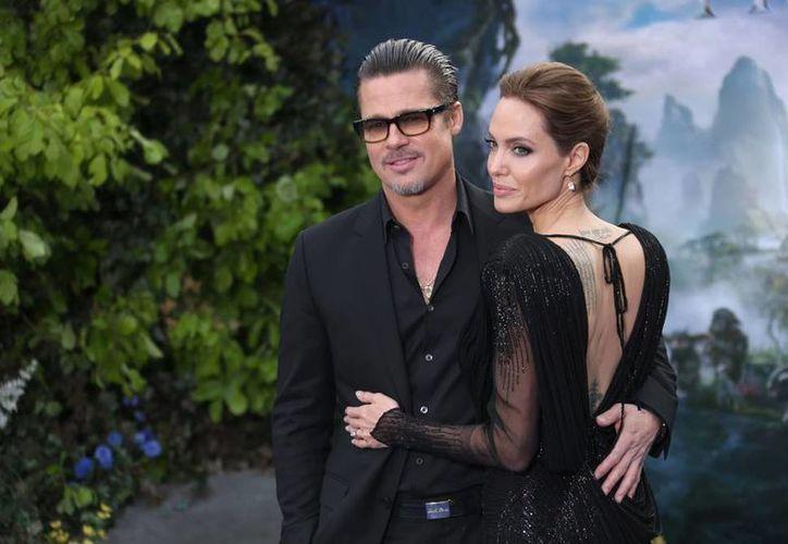 """'By the sea' es el primer proyecto como matrimonio de Brad Pitt y Angelina Jolie desde que rodaron """"Mr and Mrs Smith"""", donde comenzaron su romance. (AP)"""