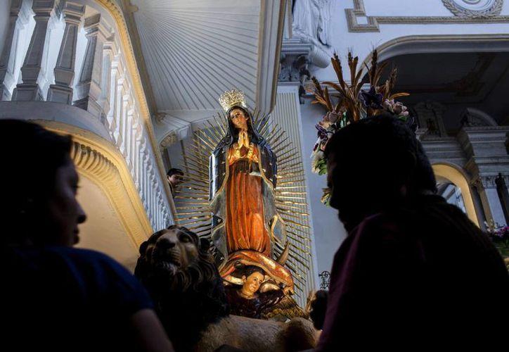 El proyecto de la imagen de la Virgen de Guadalupe inició a principios del año. Imagen de contexto, solo para fines ilustrativos. (Archivo/EFE)