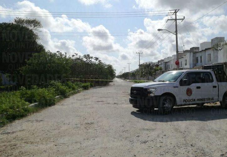 La zona fue acordonada por la Policía Ministerial. (Eric Galindo/ SIPSE)