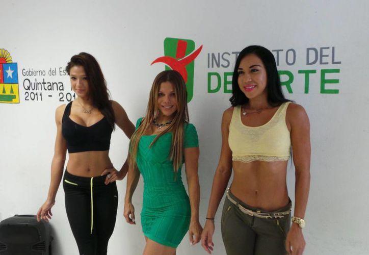 En el campeonato de físico y fitness denominado Mr. Olimpiada destacaron Brenda Sosa, Karla Cortés y Luisana Gandica. (Foto/Internet)