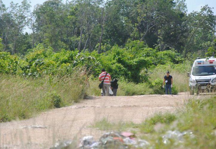 El cuerpo fue encontrado cerca del fraccionamiento Tierra Maya. (Redacción/SIPSE)