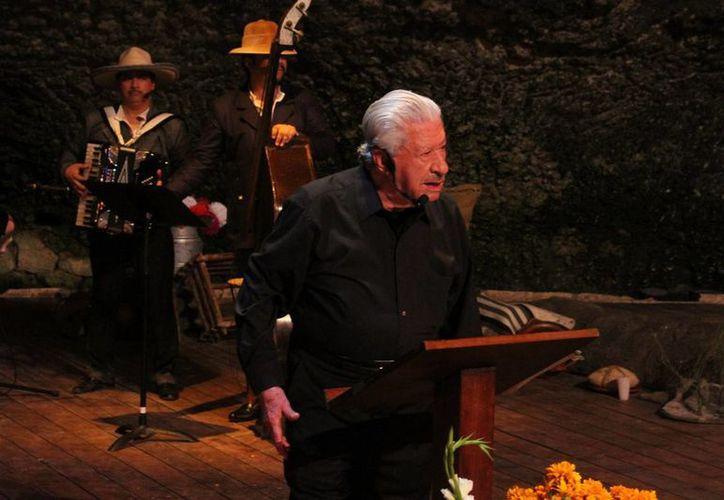 """Ignacio López Tarso es uno de los invitados estelares del noveno """"Festival Tradiciones de Vida y Muerte"""" en  Xcaret. (Maria Mauricio/SIPSE)"""