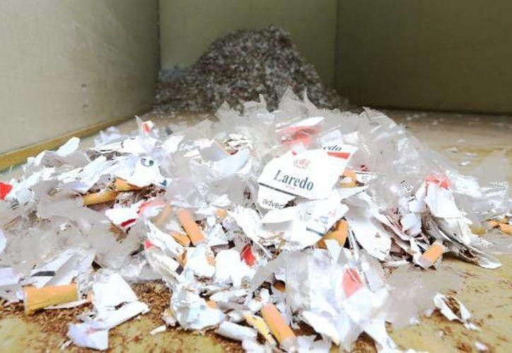 Los más de 12 mil cigarrillos serían presuntamente comercializados de manera ilegal. (Archivo/Notimex)