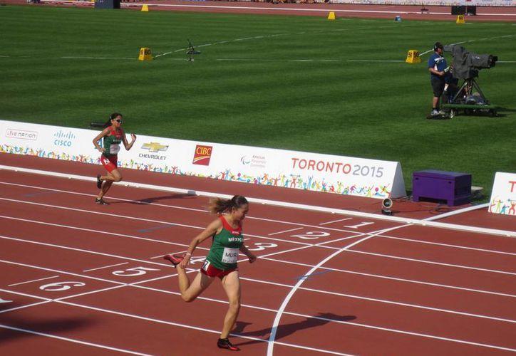 Lucia Muro consiguió dos bronces en su debut dentro de los Juegos Parapanamericanos Toronto 2015. (Notimex)