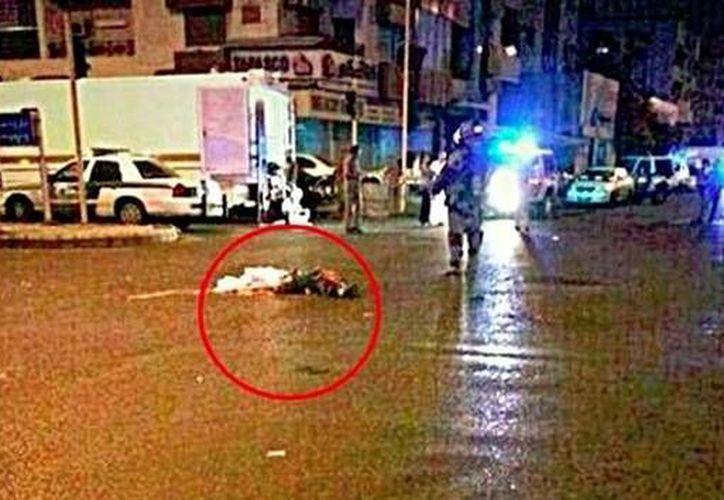 En los medios árabes circuló una foto en la que, supuestamente, se pueden apreciar partes del cuerpo humano. (facebook.com @Kim.Elhani9)
