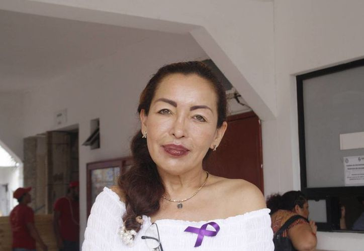 Irma Granados Zapata dijo que se capacitado a más de 200 personas. (Loana Segovia/SIPSE)