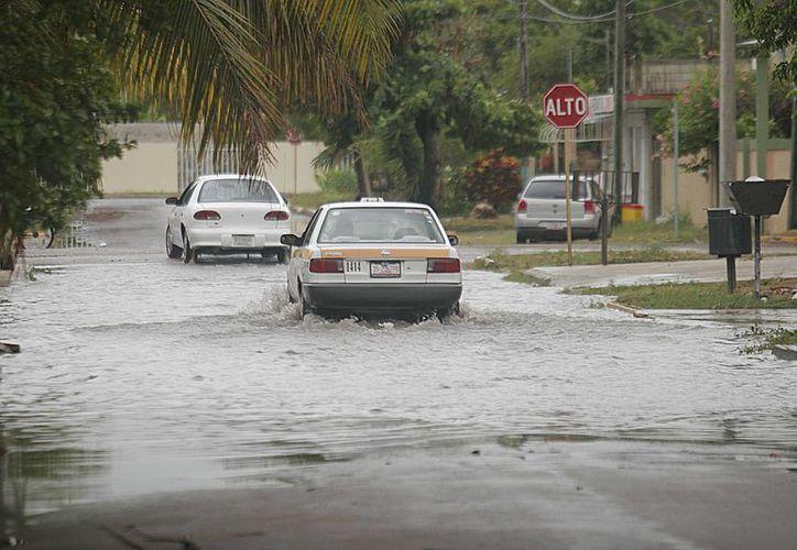 Contabilizan 53 puntos inundables en Chetumal. (Harold Alcocer/SIPSE)