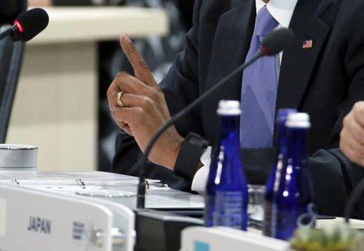 Durante su participación en la Cuarta Cumbre de Seguridad Nuclear, Obama dejó en claro el peligro de que un grupo terrorista tenga acceso a materiales nucleares radiactivos. (Agencias)