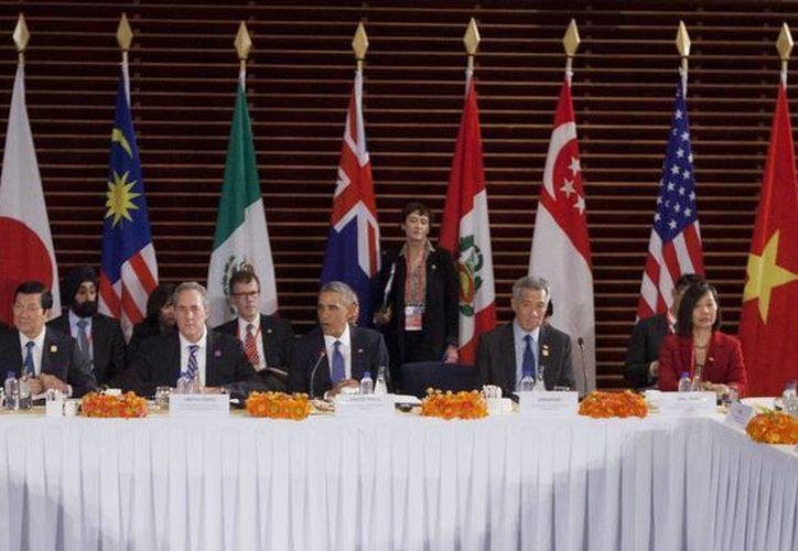 Imagen de archivo del 2014 del presidente Obama al hablar durante una reunión con líderes de los países de la Asociación Trans-Pacífico. (Agencias)
