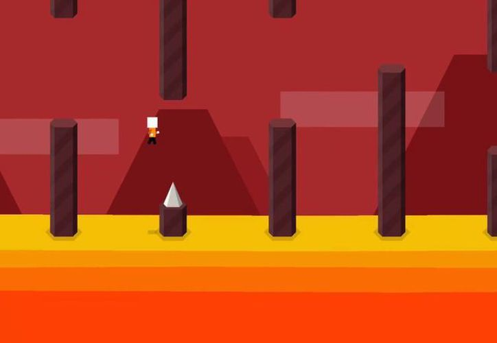 Mr. Jump tiene una dinámica similar al Flappy Bird. (Captura de pantalla/Vimeo)