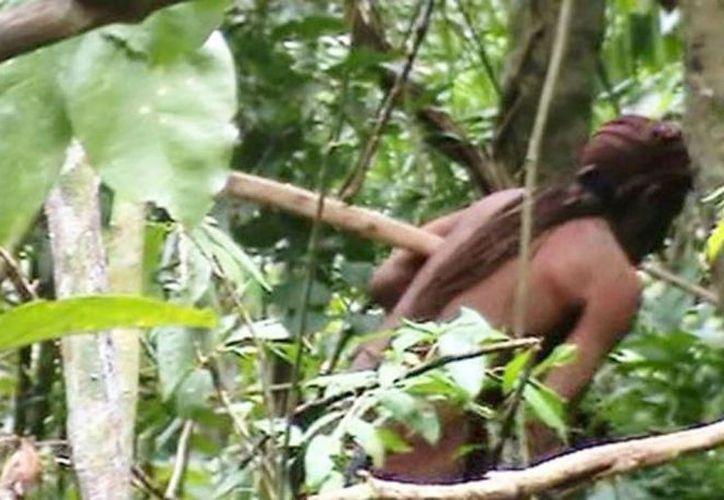 Un clip de video muestra al último sobreviviente de una tribu aislada en el Amazonas de Brasil, difundido este viernes. (Foto: Captura de video)