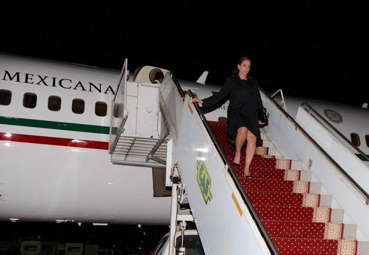 La canciller Claudia Ruiz Massieu viajó a Egipto por instrucciones del Presidente de la República. (Notimex)