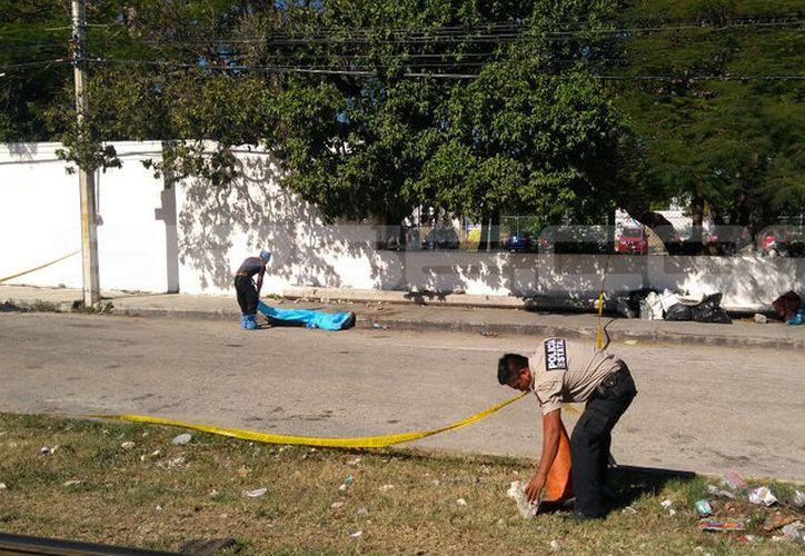 Autoridades llegaron para el levantamiento del cuerpo. (SIPSE)