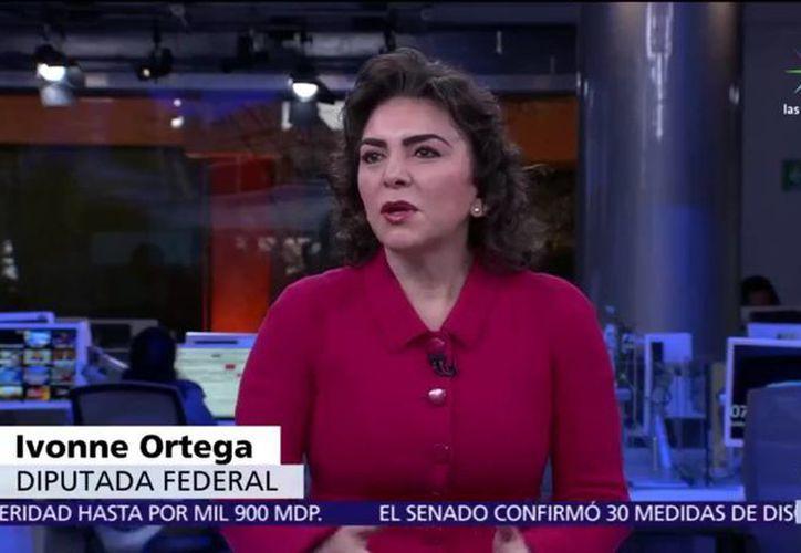 Ivonne Ortega explicó que se separó de su cargo en la Cámara baja para evitar conflictos de interés pues, ahora que busca la presidencia, financiará su agenda con recursos personales. (Captura de pantalla/Noticieros Televisa)